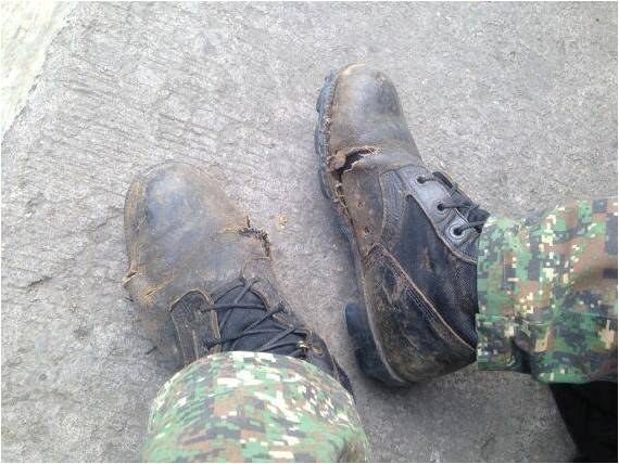 shoe filipino soldier