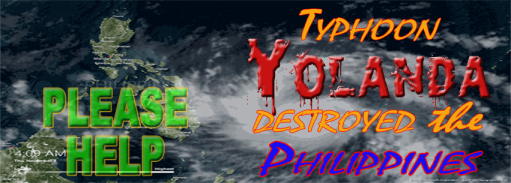 DONATE TO THE VICTIMS OF YOLANDA