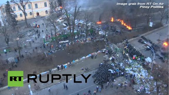 Violence has engulfed central Kiev