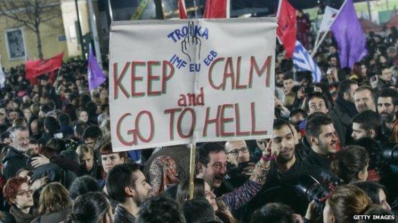 Troika IMF/EU/ECB Keep Calm and Go to Hell